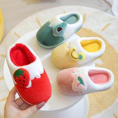 新品推荐!棉拖鞋-双拼色水果挂件半包跟儿童棉鞋(水果T-GW)
