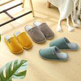 新品推荐!棉拖鞋-侧标不包跟平底棉拖(WK-191/P294)