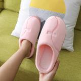 新品推荐!棉拖鞋-字母曲线低跟棉拖P326