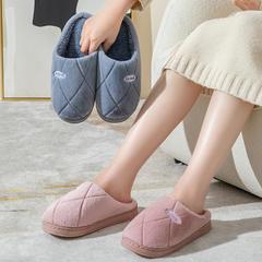 力荐!棉拖鞋-玉兔绒曲线款式带标棉拖鞋P731