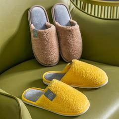 力荐!棉拖鞋(约10万)-舒面绒带侧标地板拖P735