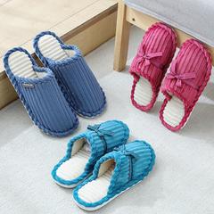 团购推荐!棉拖鞋-蝴蝶结款N535