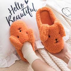 新品推荐!棉拖鞋-长耳朵狗狗款低跟棉拖P698