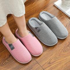 荐!棉拖鞋-侧标针织款低跟棉拖P532
