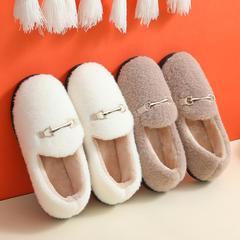 荐!棉拖鞋-tpr毛绒包头款包跟棉鞋P521