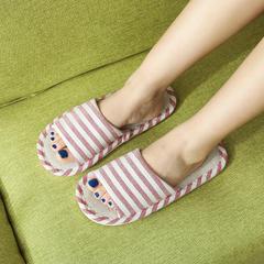 实!亚麻拖鞋-横条纹款亚麻拖鞋P315