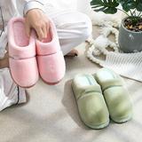 新品推荐!棉拖鞋-LVSE单条纹款低跟棉拖(WK-183/P285)