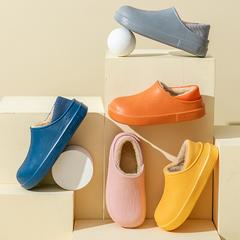 新品推荐!棉拖鞋-无图案毛皮款全包跟棉拖P810