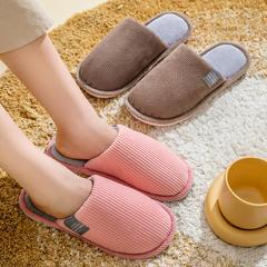 团购推荐!棉拖鞋(约13万)-侧标不包跟平底棉拖P294