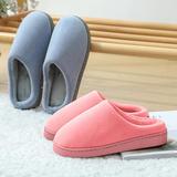 新品推荐!棉拖鞋-纯色千鸟格低跟棉拖(WK-189/P296)