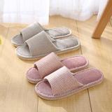 亚麻拖鞋-情侣条纹(WK-030/N411)
