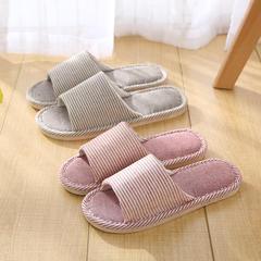 亚麻拖鞋-情侣条纹N411