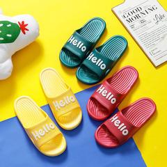 凉拖鞋-YF-839 Hello英文内部竖条款凉拖P562