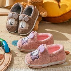荐!棉拖鞋-立体耳朵兔全包跟儿童棉拖鞋P784
